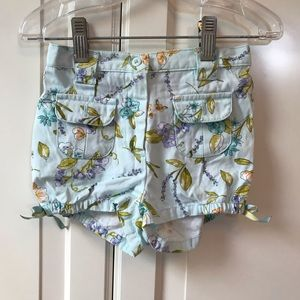 GYMBOREE blue floral shorts
